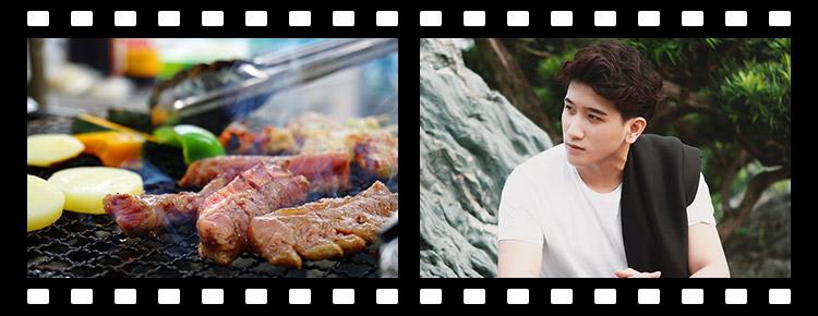 肉の写真 → 男性の写真